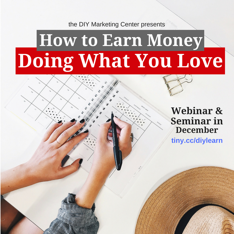 How to Earn Money Doing What You Love webinar
