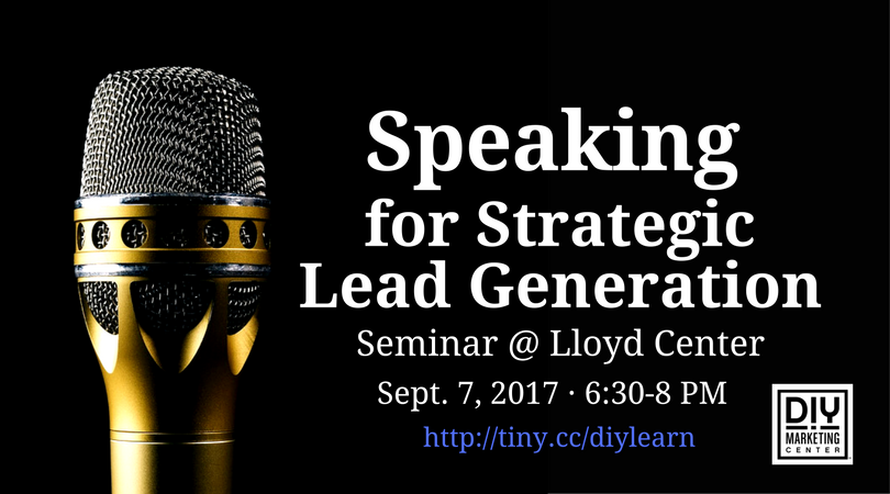 Speaking for Strategic Lead Generation in Portland at Lloyd Center