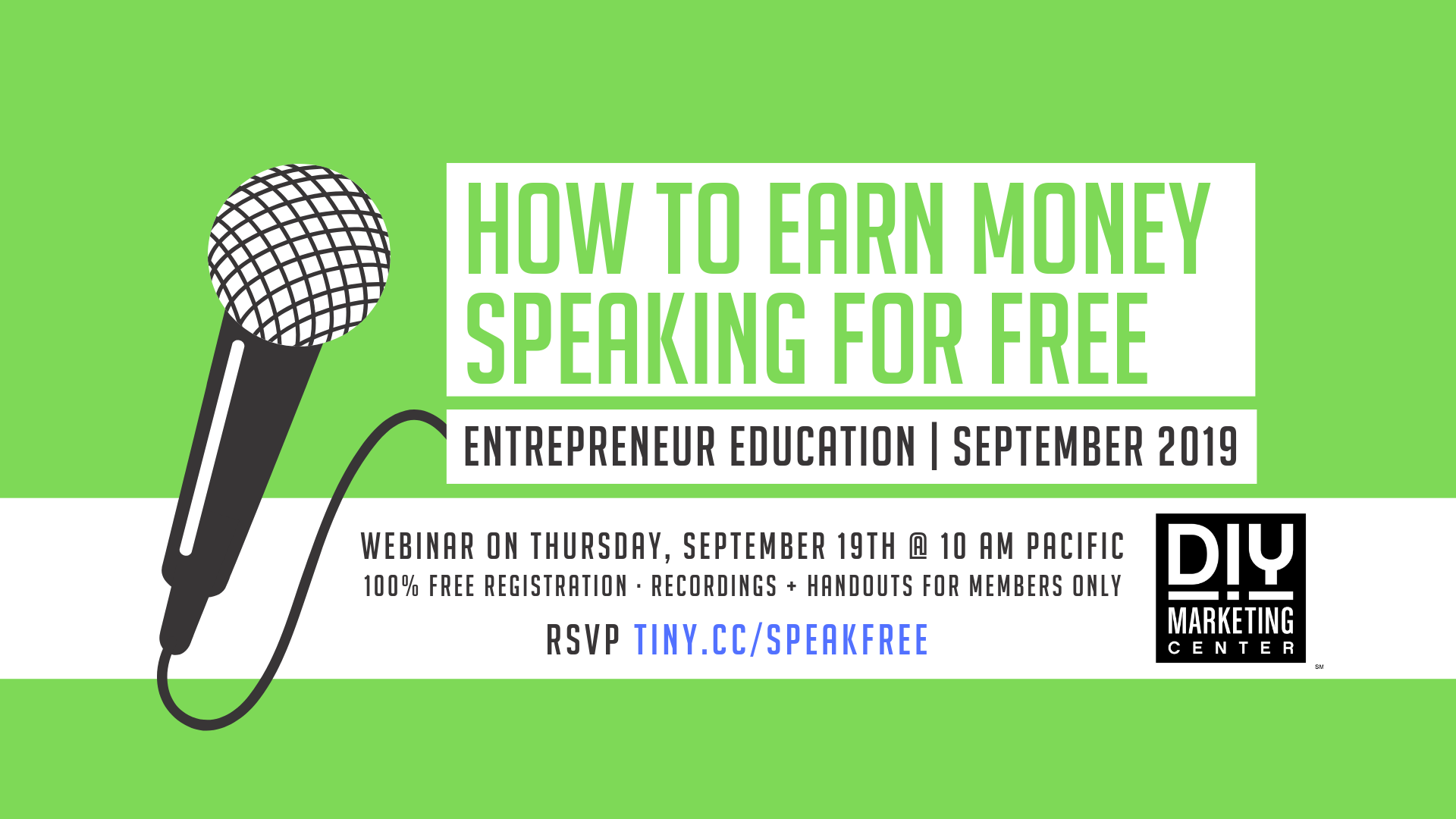 How to Earn Money Speaking for Free Webinar