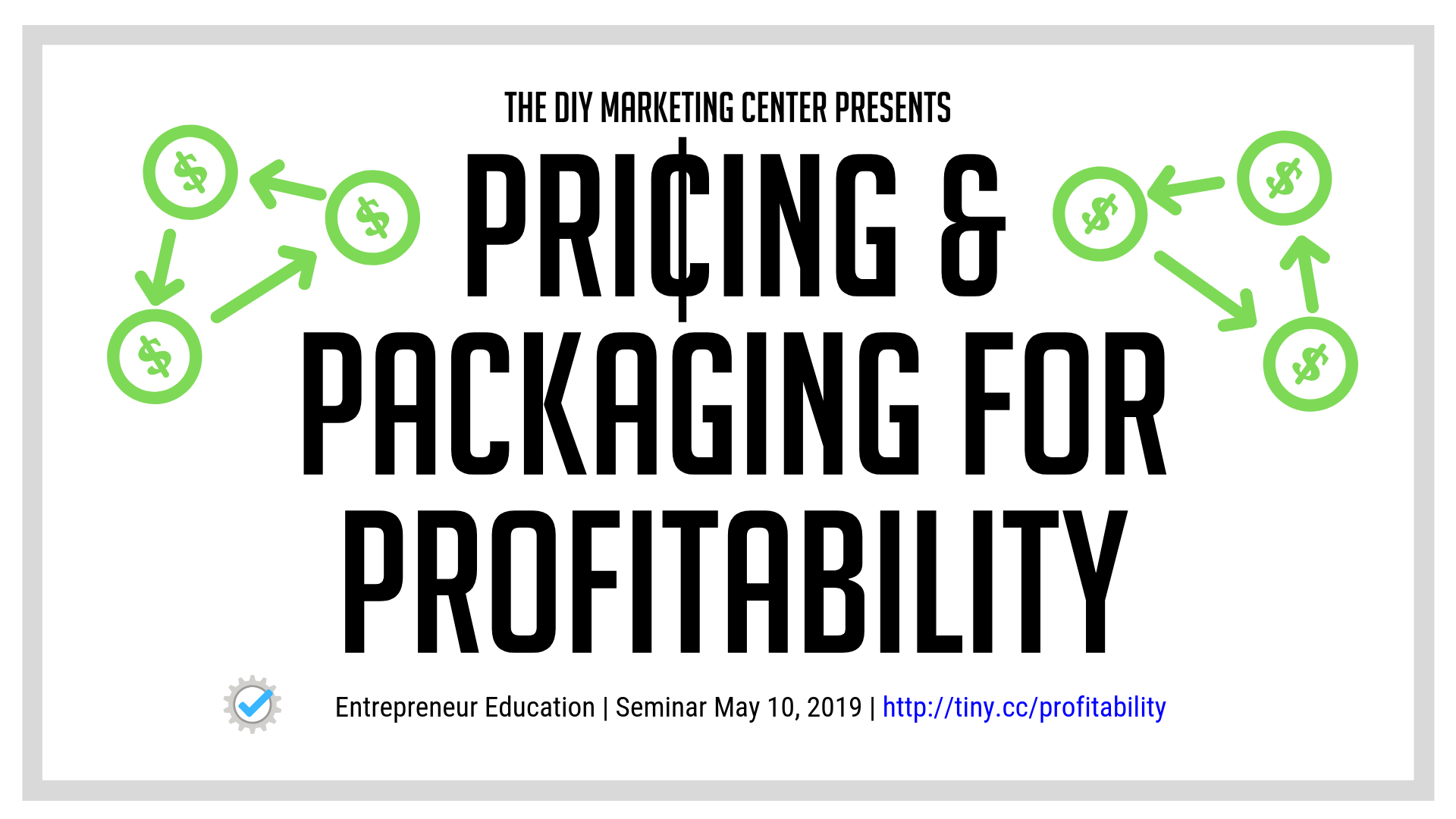 Pricing & Packaging for Profitability Seminar on Friday