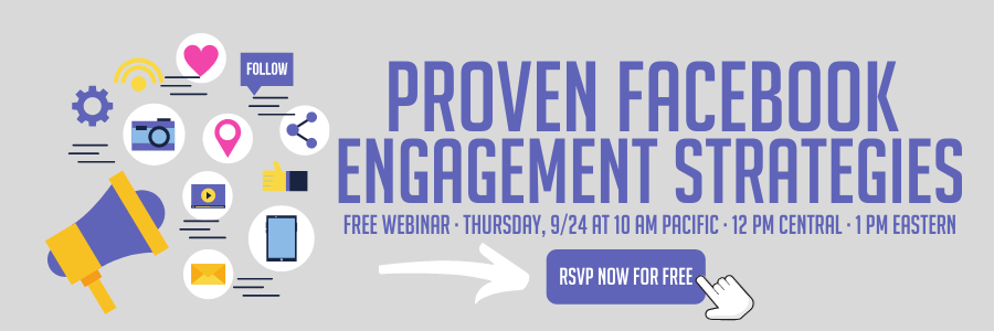 SProven Facebook Engagement Strategies Free Webinar on Thursday