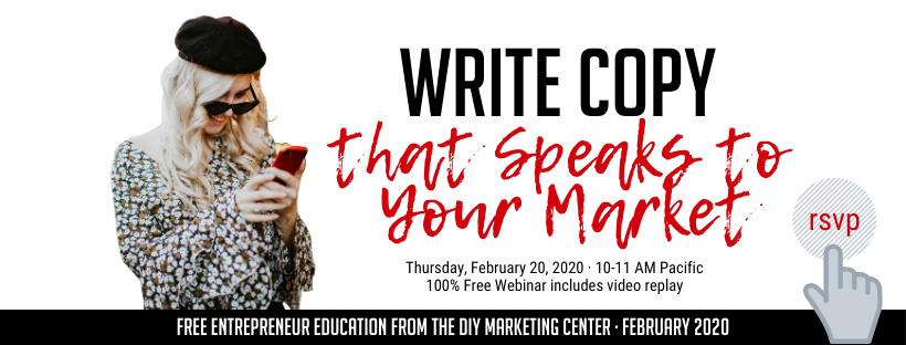 Write Copy that Speaks to Your Market Webinar on Thursday
