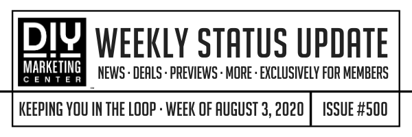 DIY Weekly Status Update · August 3, 2020 · #500