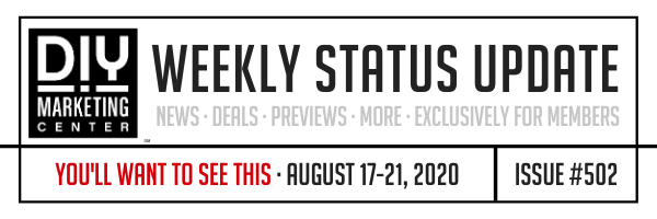 Create Your Profitable Marketing Machine · DIY Weekly Status Update · August 17-21, 2020 · #502