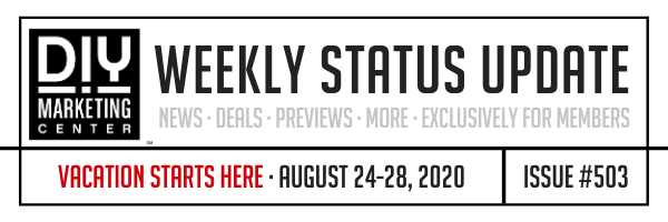 DIY Weekly Status Update � August 24-28, 2020 � #503