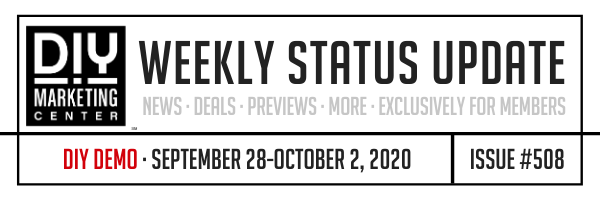 DIY Weekly Status Update � September 28-October 2, 2020 � #508