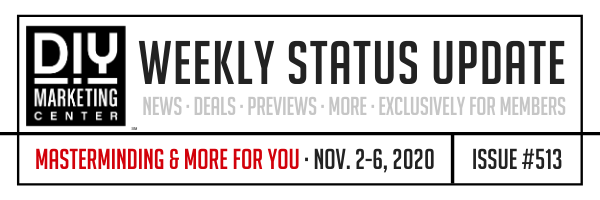 DIY Weekly Status Update � November 2-6, 2020 � #513