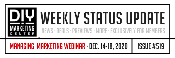 DIY Weekly Status Update � December 14-18, 2020 � #519