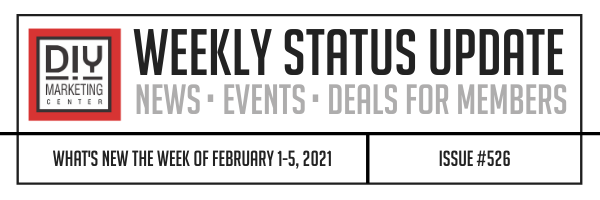DIY Weekly Status Update � February 1-5, 2021 � #526