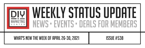 DIY Weekly Status Update · April 26-30, 2021 · #538