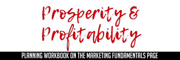 Prosperity & Profitability Planning Workbook for Members